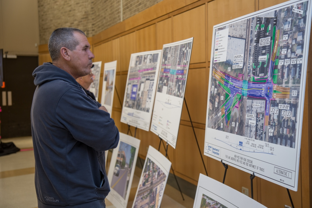 A series of visuals were displayed at the Public Scoping Meetings