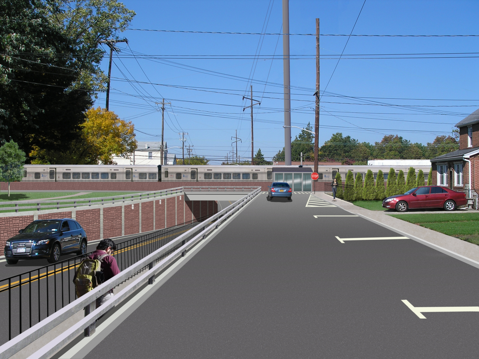 "<span class=""crossing tag""></span>Illustrative Rendering of Covert Avenue Crossing (Street View)"