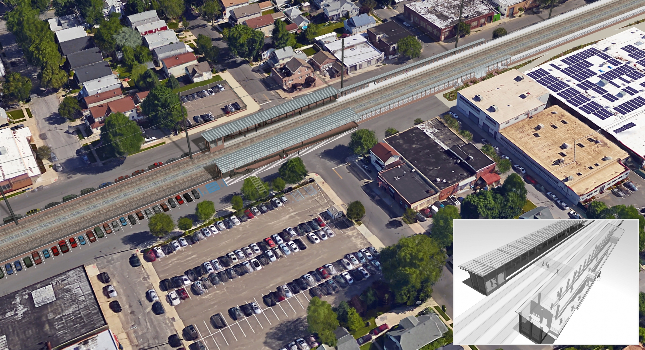 "<span class=""crossing tag""/>Illustrative Rendering of S. 12th Street Crossing (Alternative 1)"