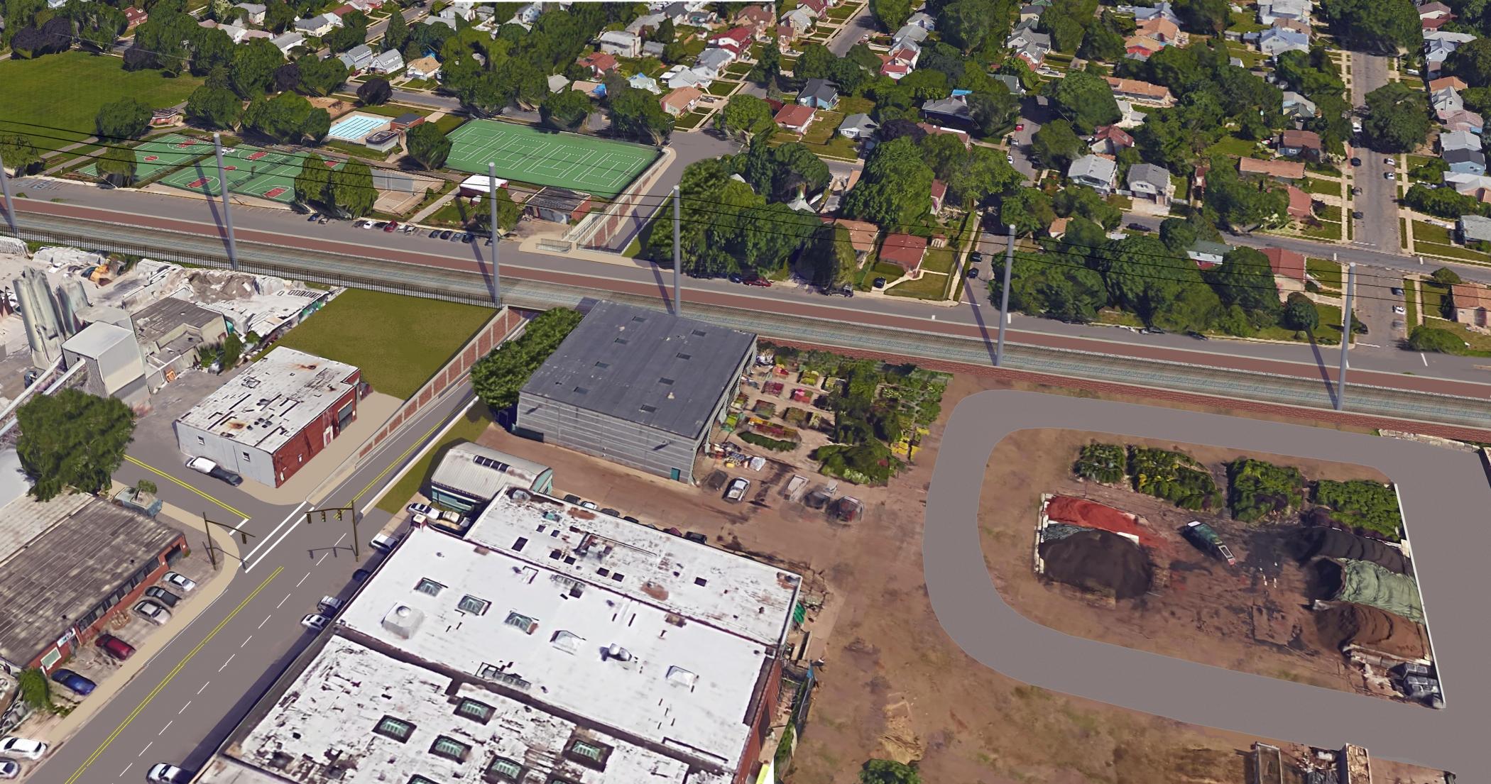 "<span class=""crossing tag""/>Illustrative Rendering of Urban Avenue Crossing (Alternative 1B)"