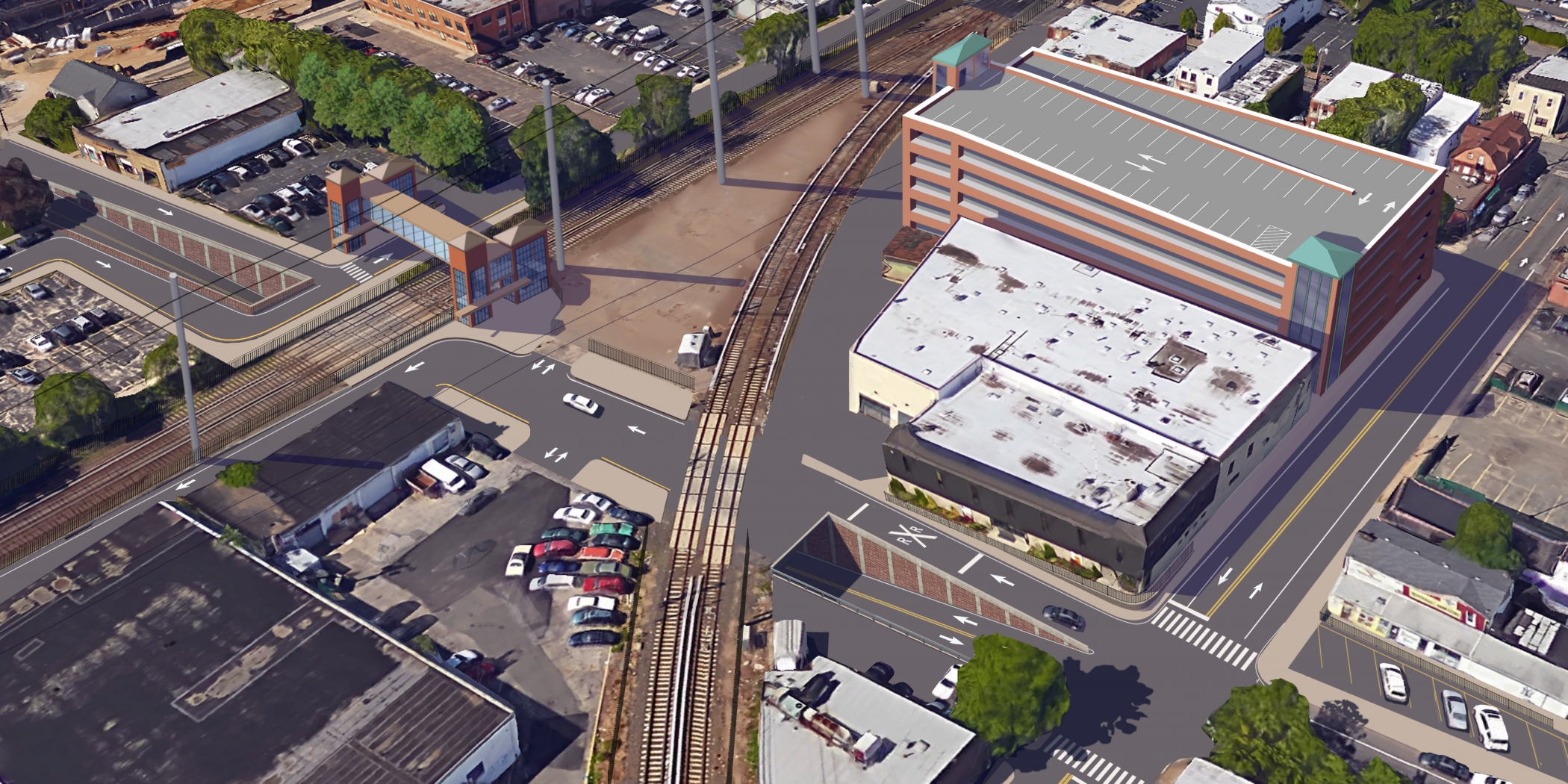 "<span class=""crossing tag""></span>Illustrative Rendering of Willis Avenue Crossing (Alternative 1)"