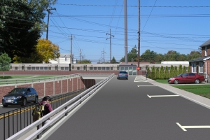 """<span class=""""crossing tag""""/>Illustrative Rendering of Covert Avenue Crossing (Street View)"""