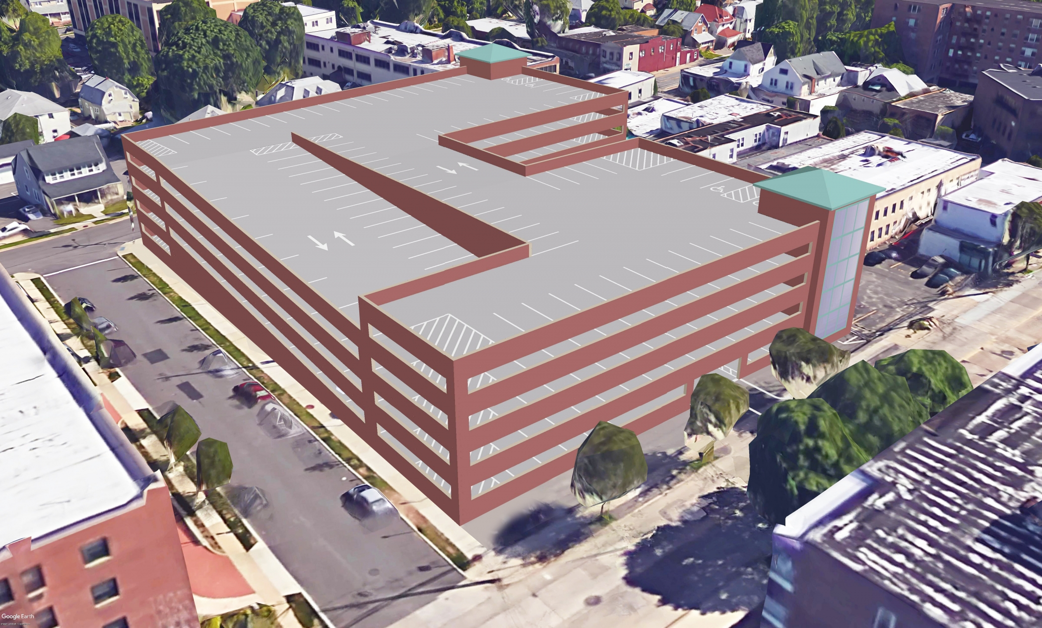 "<span class=""parking tag""></span>Illustrative Rendering of Mineola Parking Garage (Harrison Avenue)"