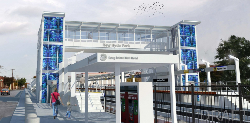 Potential Station Improvement Rendering: New Hyde Park Station