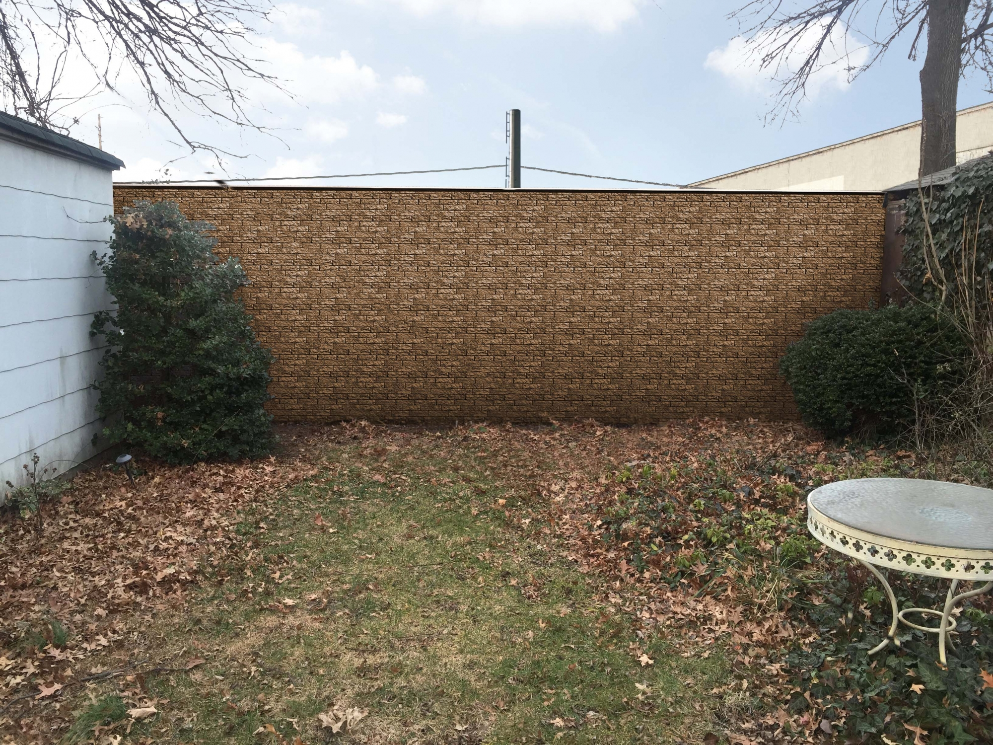 """<span class=""""noise tag""""/>Illustrative Rendering of Sound Attenuation Wall - Albertson Place, Mineola"""