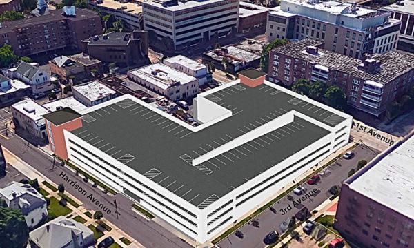 Mineola Boulevard Parking Garage Southeast View Rendering