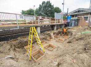 Brentwood Station construction progress 07-17-2018