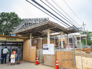 Brentwood Station construction progress 07-17-2018