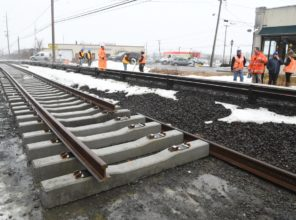 Installation of new rails and concrete ties 01-12-2018