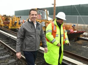 Governor Cuomo tours Double Track project in Deer Park 01-12-2018