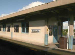 Hicksville Station before improvements