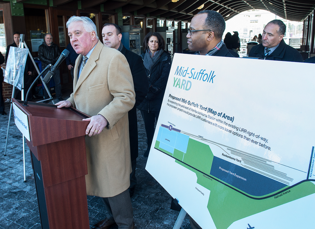 Ronkonkoma Station – Announcement of Mid-Suffolk Train Yard Information Center - 01-29-15