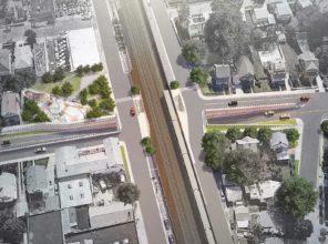 Covert Avenue Grade Crossing Elimination (rendering)