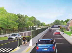 Covert Avenue Grade Crossing Elimination (rendering)
