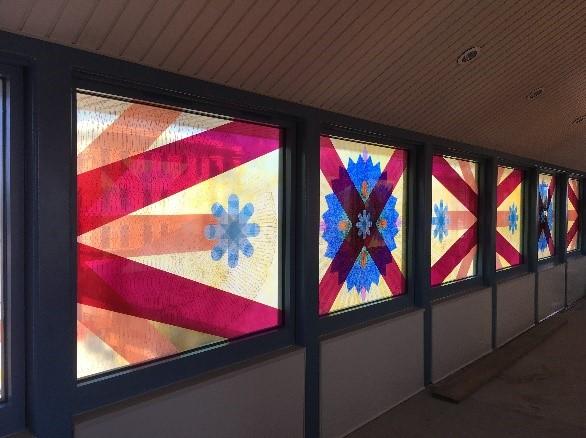 American Season (2018) © Mary Judge, LIRR Wyandanch Station. Commissioned by MTA Arts & Design. Photo: MTA Arts & Design.