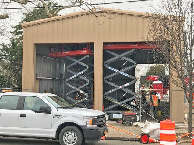 New Hyde Park Temporary Firehouse - 03-29-19