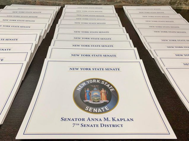 NYS Senator Anna Kaplan Issues Certificates of Achievement - 06-25-19