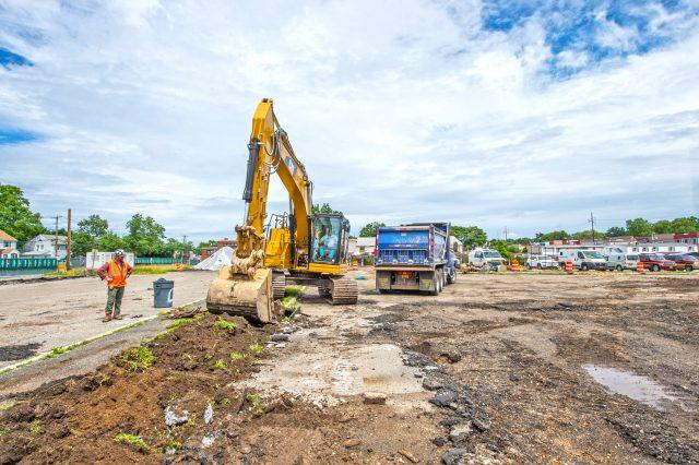 Excavation Begins at Westbury North Parking Structure - 07-03-19