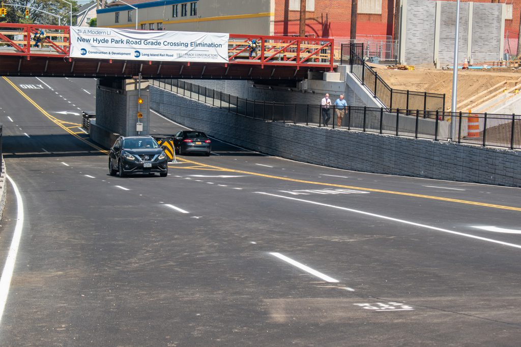 First vehicles pass through the new underpass - 08-24-2020