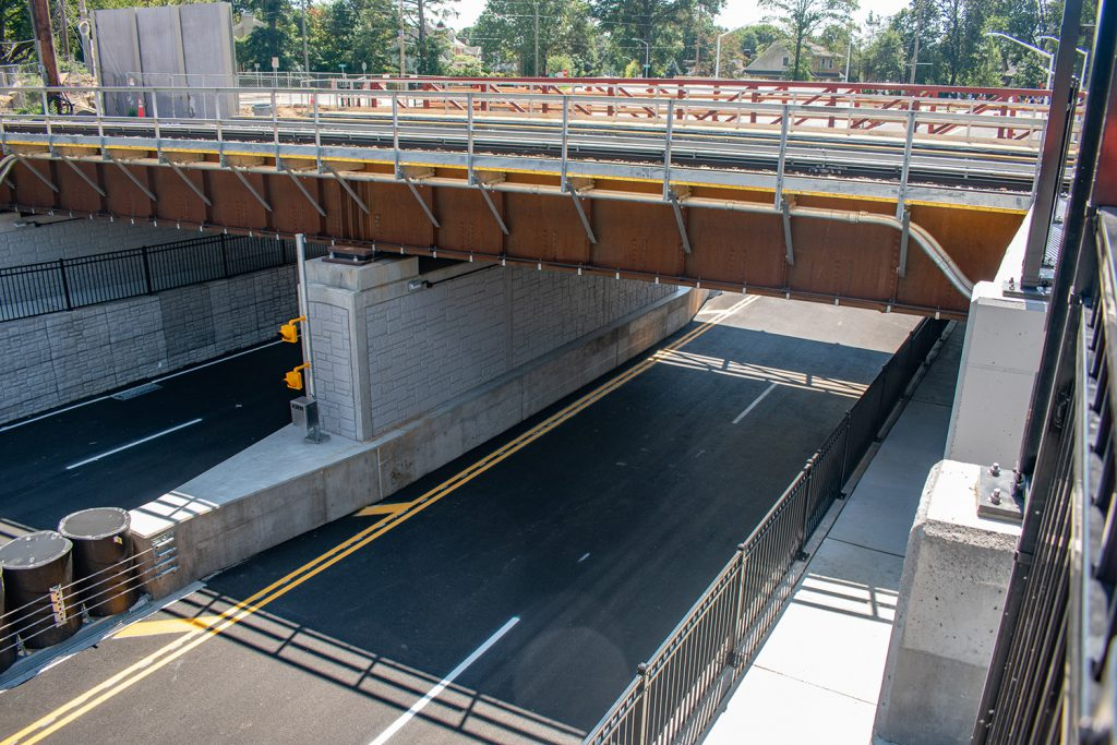 Photo of the underpass taken from above on Second Avenue - 08-24-2020