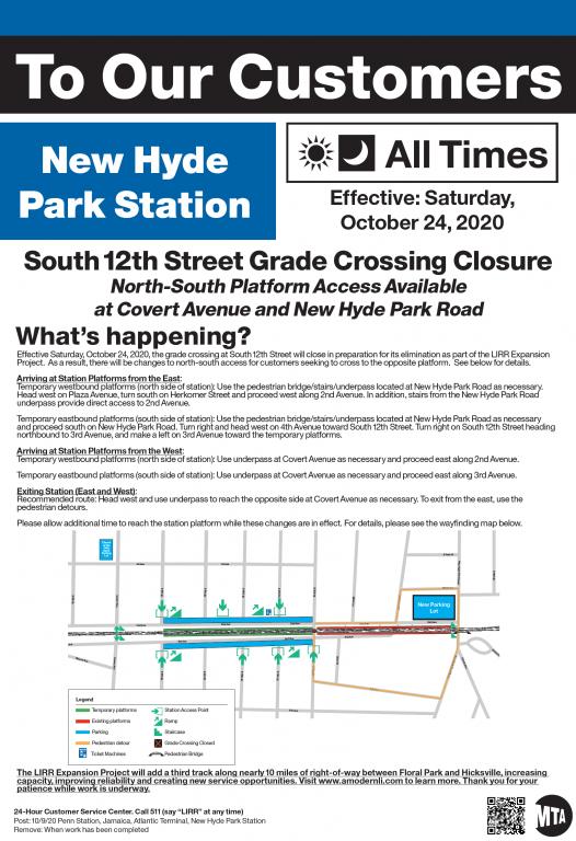 New Hyde Park Station flyer - 10-24-20