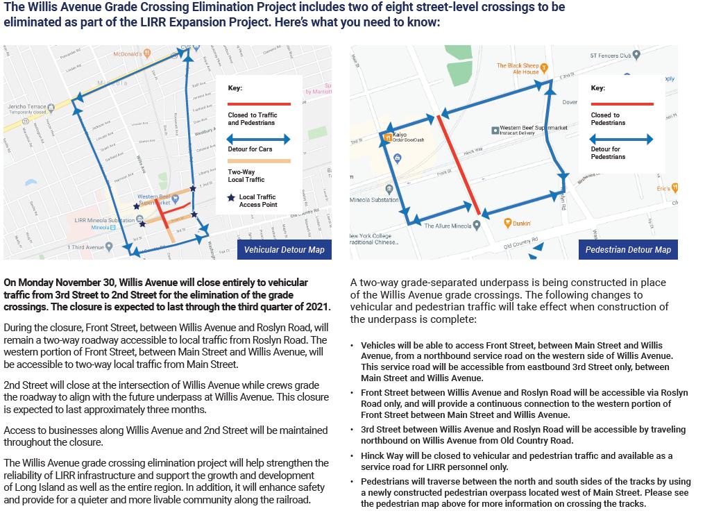 Willis Avenue Grade Crossing Flyer 11-30-20