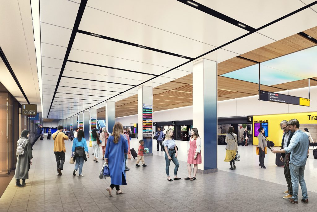 Illustrative rendering of the new Concourse.